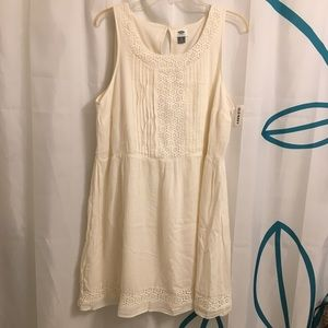 Old Navy Cream Lightweight Dress